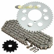 Drive Chain And Sprockets Kit For Honda Xr100r 1985-2003 / Crf100f 2004-2013