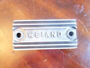 Vintage Weiand Supercharger Pop Off Plate For Front Of Manifold Blower 671 871