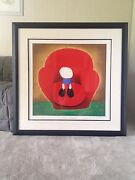 Mackenzie Thorpe Love Seated Framed Serigraph On Paper Rem Limited Edition
