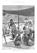 Dance Before The King Of The Sofas In West Africa - Antique Print - 1894