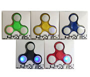 Led Light Fidget Hand Spinners Triangle Decompression Fingers Tip Lot Of 20