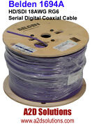 Belden 1694a - 1000and039 - Hd/sdi 18awg Rg6 Hd Digital Coaxial Cable - Violet
