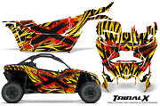 Can-am Brp Maverick X3 Creatorx Graphics Kit Decals Tribalx Cm Red Yellow