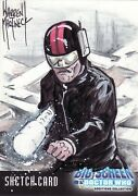 Doctor Who And The Daleks Big Screen Rare Warren Martineck Sketch Card