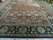 10and039 X 14and039 Vintage Hand Made Indian Agra Wool Rug