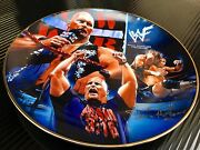 Wwf/yr.2000-stone Cold Collectors Plate 24k Gold Plated Rim And Autograph