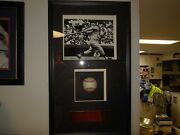 Mickey Mantle Shadowbox Signed Ball By Steiner And 8x10 Photo
