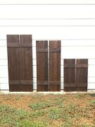 Best Sellerset Of 2 Quality Custom Wood Stained Exterior Shutters