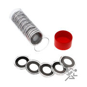 1/10oz Gold Eagle Coin Holder, Red Capsule Tube And 20 Air-tite 16mm Black Rings