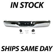 New Chrome Rear Bumper Assembly For 2013-2018 Ram 2500 3500 Pickup W/ Park Holes