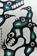 Norval Morrisseau Original Hand Signed Acrylic Healing 5-14 1972