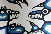 Norval Morrisseau Original Hand Signed Acrylic Healing 11-14 1972
