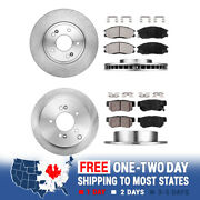 Front And Rear Rotors And Ceramic Pads For 2000 2001 2002 2003 2004 2005 Santa Fe