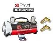 Genuine Facet Red Top Fuel Pump + 90 Degree Unions 10mm