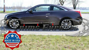 2015-2019 Cadillac Ats Coupe 2dr 6pc Chrome Lower Flat Body Side Molding Trim