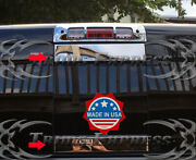 Fit2009-2018 Dodge Ram Sliding Rear Window Tailgate Trim Molding Decal Cover 2p