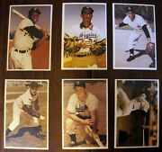 1982 Tcma Baseball Cards Stars Of The 1950s Oversized Mantle Dimaggio Clemente