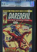Daredevil 132 Cgc 9.4 Type 1a U.s Published U.k Pence Cover Price Variant