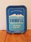 Antique Evervess Sparkling Water Serving Tray Pepsi Cola Advertising 13 3/4