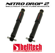 97-03 Ford F150 Nitro Drop 2 Front Shocks For 0 To 2 Drop Pair