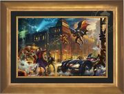 Thomas Kinkade Dark Knight Saves Gotham City 18 X 27 Le E/e Framed Canvas