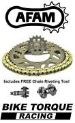 Ducati 1100 Streetfighter / S 09-13 Afam Track Day Chain And Sprocket Kit + Tool