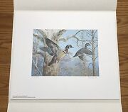 Wtdstamps - 1983 Pennsylvania State Duck Stamp Print Ned Smith With Stamp