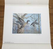 Wtdstamps - 1983 Pennsylvania State Duck Stamp Print Ned Smith With Stamp -