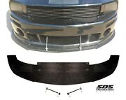 Front Splitter And 2 Support Rods For 2005-2009 Mustangs With Roush Front Bumpers