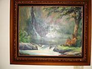 Original Painting Oil On Canvas Signed By Stephen Sands Maui Hawaii 1978