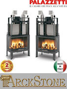 Fireplace Wood Air Natural Ducted Palazzetti El 78 Dx Sx Easy Line 24 Kw