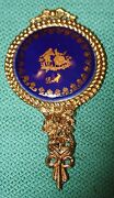 Antique1950and039s Limoges Porcelain Hand Mirror