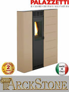 Pellet Stove Space-saving Slim Ducted Palazzetti Violetta 7 74 Kw