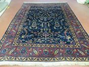 7and039 X 8and039 Antique Turkish Osiem Wool Rug Hand Knotted Navy Blue Nice