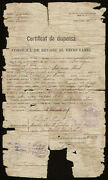 Rumanian Government - Document Signed 12/03/1887