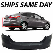 New Primered Rear Bumper Cover Replacement For 2012-2014 Ford Focus Sedan 12-14