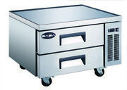 Saba 36 Commercial Stainless Steel Chef Base Refrigerator 2 Drawers Food Prep