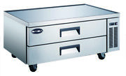 Saba 52 Commercial Stainless Steel Chef Base Refrigerator, 2 Drawers Food Prep