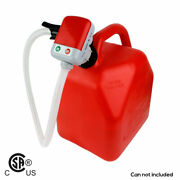 Terapump Trfa01 Fuel Transfer Pump Battery Electric For Plastic Gas Cans 2.4 Gpm