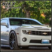 20 Rohana Rc10 20x9/10 Black Concave Wheels For Ford Mustang Gt Gt500