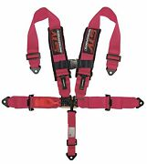 Universal Pink 5 Point Latch And Link Racing Seat Belt Harness Sfi
