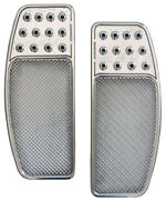 Accutronix Knurled Drilled Original Front Floorboards For Harley Davidson