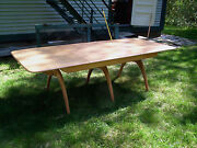 Heywood Wakefield M197g Dining Table And Four 556a Chairs