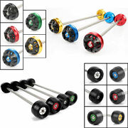 Front Axle Fork Crash Sliders Wheel Protector For Yamaha Yzf R1 R1m 2015-2017 16