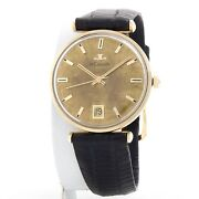 Vintage Lecoultre Solid 14k Yellow Gold With Manual Movement