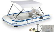 Sea Eagle 14sr Swivel Seat Floorboard Canopy 14andrsquo Inflatable Sport Runabout Boat
