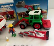 1992 Playmobil 3718 Farm Front Loader Tractor And 3719 New Open Store Display Box