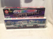 1995 Annual Hess Truck/helicopter-1996 Texaco Atlanta Olympic Games Toy Tanker