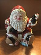 Fitz And Floyd Candy Christmas Cookie Jar New In Original Packaging