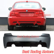 Performance Style Rear Bumper Dual Exhaust Fit 07-13 Bmw E92 2dr 3-series 335i